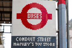 This London bus stop is made entirely from 100,000 Lego bricks lego brick, london bus, bus stop