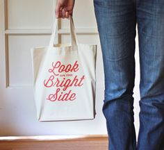 DIY iron-on typographic tote bag | How About Orange