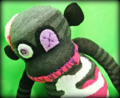 This is so cute! Zombie sock monkey XD