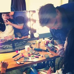 #Morning prep at the makeup station. #urbanoutfitters