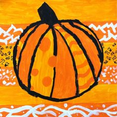 Britto styled pumpkins - nice lesson