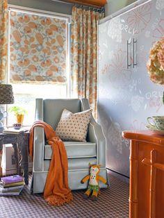 orange + gray nursery
