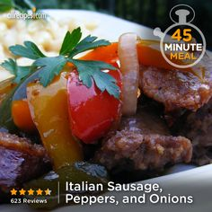 """Italian Sausage, Peppers, and Onions 