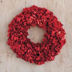 Red Hydrangea Wreath contemporary holiday outdoor decorations