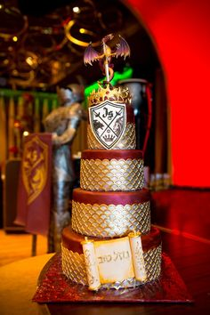 Bar Mitzvah Cake, Game of Thrones, Hunger Games Theme {Sergei Zhukov & Lasting Memories Photography} - mazelmoments.com
