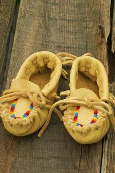 Beaded baby moccasins