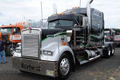 """NIGHTMARE"" Custom Kenworth Big Rig by man4054, via Flickr big truck, kenworth w900, big rig, custom semi, hot rig, rig truck, semi truck, shine truck, custom kenworth"