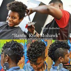 natur hairstyl, mohawk str8, knot frohawk, braids, hawks, knot mohawk, bantu knots, hairhair style, beauti