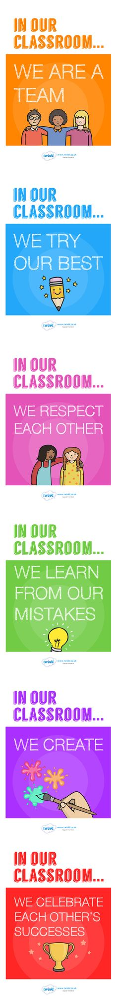 In Our Classroom Display Posters  - Twinkl