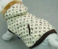 Louis Vuitton Dog Fur Cream Coat