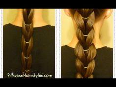 Reverse Pull-Through Braid Hairstyle Tutorial - YouTube