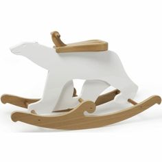 Maclaren Nursery Rufus Polar Bear Rocker by David Netto