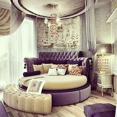 this is way to fancy for a home, but it would be awesome to stay i a hotel like this.