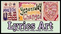DIY LYRICS ART! DEMI LOVATO AND TAYLOR SWIFT