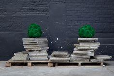 Colors - emerald green / charcoal grey / barnwood