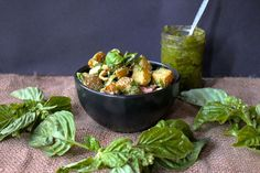 pesto potato salad  interested in the pesto sauce.  Looks great and can be used for sauce for zucchini noodles