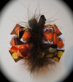 Fall Hair Bow