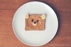 Good idea: Teddy bear toast.