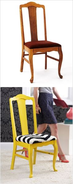 New Life of Old Furniture - DIY Transformation  this is what I mean about used dining room furniture.