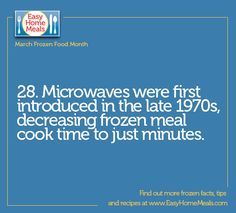 What would we do if the microwave was never invented? #MarchFrozenFoodMonth