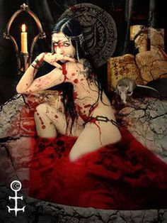 From Unholy Testament -the Beginnings, bk 2 in The Blackstone Vampires Series  The demon, Eco and Countess Bathory.  18 and over, pls.