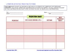 FREE Use this Predicting Outcomes Chart to create a habit in your students to make predictions when they read. Easy to understand cha...