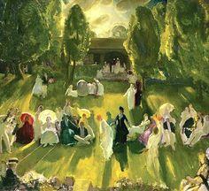 columbus ohio, american, 1919, paint, ashcan school, newport, artist, tennis, georg bellow