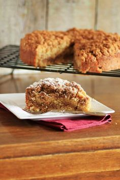 Maple Syrup Pecan Coffee Cake by Noshing With The Nolands