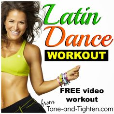 FREE full Zumba workout on Tone-and-Tighten.com!