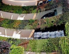 This is a cool idea for an outside wall or garden inside.