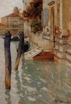 On the Grand Canal, Venice - Frits Thaulow