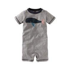 I love this little romper for my baby boy. The whale appliqué is adorable! #TeaSummer