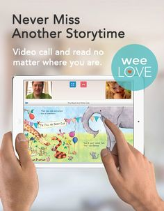 This awesome free iPad app allows you to read books with your little one, even if you're across the country.