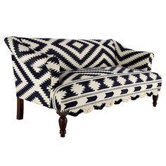 J'Adore!  #black and white #sofa #jonathan adler