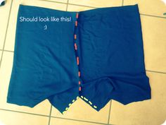 flowy shorts sewing instructions