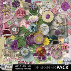 With A Little Help From My Friends Page Kit  #pattybscraps #mymemories #digitalscrapbooking