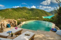Guana Island, in the British Virgin Islands is an ideal private place for honeymooners.