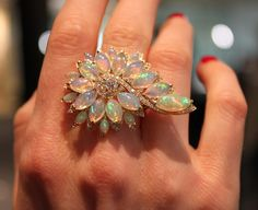 Stephen Webster ~ The Magnipheasant opal ring.