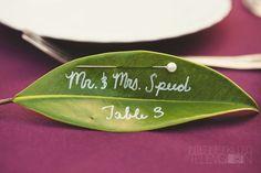 Leaf escort card