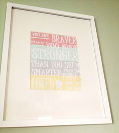 Wall decoration - Framed quotes.