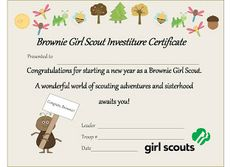 """A Mindful Momma: Girl Scouts BROWNIES 'A New Year"""" Cert Check it out @Bethany Maxey !"""