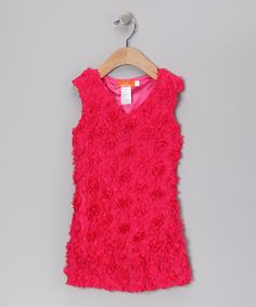Take a look at this Hot Pink Rosette Shift Dress - Infant, Toddler & Girls by Dolce Liya on #zulily today!