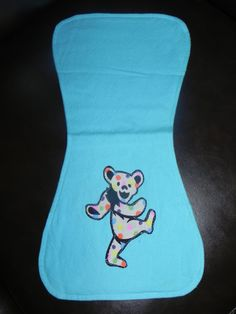 Grateful Dead inspired Burp Cloth by HereThereEverywhere on Etsy, $8.50