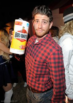 Attention men with red flannel shirts: you're just one paper towel purchase away from a great costume.