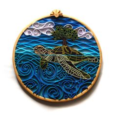 Beth Petricom - Quilling with Polymer - Turtle