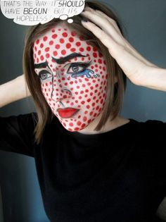 this is so cool!    Making Faces Halloween Edition: Pop Art