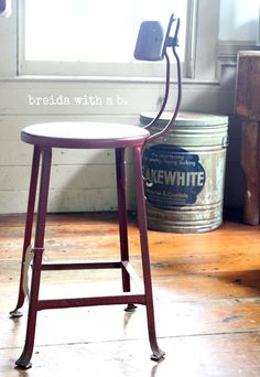 A Kitchen Stool {beauty inside and out}