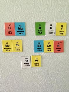 Periodic table magnets.
