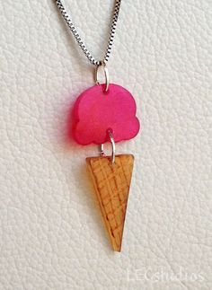 Shrinky dink @Mary Jane Litwin Daret  We need to collaborate! Shrinky Dink paper is the perfect thing to use as a base for gluing on other treasures. This ice cream is cute, but I'm thinking way more glam and less literal.