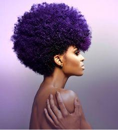 gorgeous purple natural hair